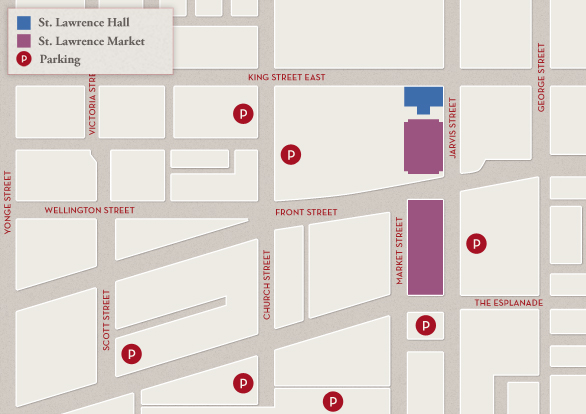 St. Lawrence Market Parking Map